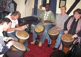 Learning to play African drums