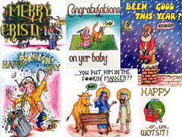 'Gubby's World' - alternative greetings cards