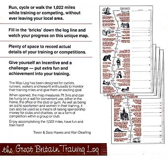 The Great Britain Training Log includes many illustrations of  landmarks and sites on the route